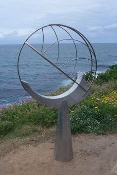 """""""sky catcher II"""" made from stainless steel and aluminium. 185cm x 100 cm x 25cm. by Bob Emser USA"""