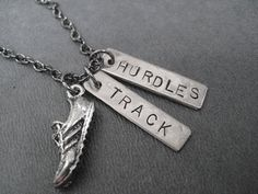 RUN TRACK HURDLES Necklace  Running Necklace on 18 by TheRunHome, $19.00