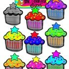 Cute Colorful Calorie-Free Cupcakes Clip Art on Notebook Paper   WARNING!!! If you are looking for crisp clear non-doodled images, these are not fo...