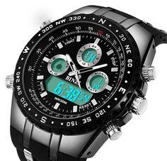 BINZI Big Face Sports Watch for Men, Waterproof Military Wrist Digital Watches  #BINZI