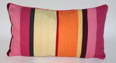 Multi-Color Striped Lumbar Pillow