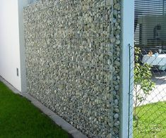 gabion wall privacy fence