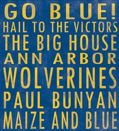 University of Michigan Wolverines art board