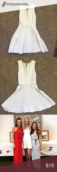 White Lulus Dress White dress from Lulus! Stretchy, thick material. Lulu's Dresses Mini