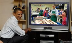 Barack Obama making sandviches Martha's Table watch live Obama