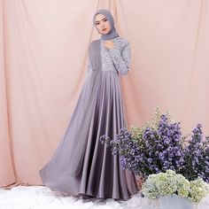 Velvet Bordir TileSize fit to LFor OrderDMWA in Bio happyshopping makeup kosmetikmurah bajuwanita hijabers tas sepatu gamismurah Hijab Prom Dress, Hijab Gown, Muslimah Wedding Dress, Hijab Style Dress, Muslim Wedding Dresses, Muslim Dress, Dress Outfits, Fashion Dresses, Casual Hijab Outfit