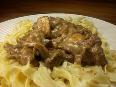 My prior version of Beef Stroganoff pales is not nearly as good as this new 2010 version from Cook's Illustrated. This version marinades the beef in soy sauce, building complex flavors using a must. Beef Strognoff, Beef Sirloin, Venison, America's Test Kitchen Cookbook, Kitchen Recipes, Savoury Dishes, Food Dishes, Best Beef Stroganoff, American Test Kitchen