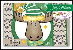 Stampin Up Jolly Friends Rider Pride Christmas Card