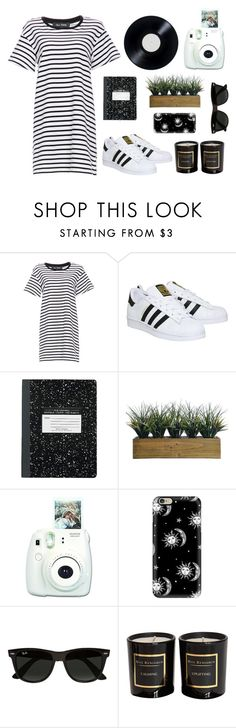 """""""Lazy day"""" by memartha ❤ liked on Polyvore featuring The Fifth Label, adidas, Laura Ashley, Casetify, Ray-Ban and Max Benjamin"""