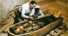 Fotos del hallazgo de Tutankamón 1922, restauradas y a color