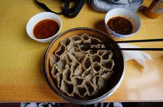noodles differenti dai classici, specialità della provincia dello Shanxi