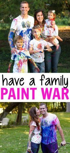 How to take paint war photos without ruining all your clothes! Such a fun memory!