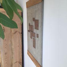 Beton-Bild mit Nagel-Faden-Technik