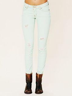 Thrift Wash Destroyed Skinny Jeans