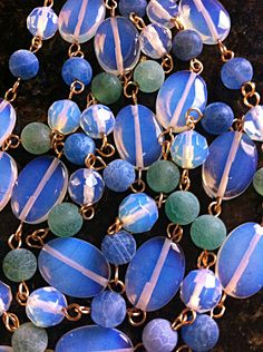 Sri Lanka Moonstone and Frosted Agate by DesignsByAlesia on Etsy, $35.00