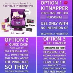 Check out this amazing new kit!!! Only $99!! No obligation to sell!! www.britsbeauties.com #Younique #makeup #deals #britsbeauties