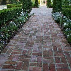 Front walkway using reclaimed brick?
