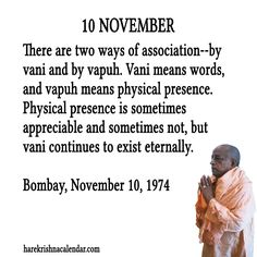 10 November  For full quote go to: http://quotes.iskcondesiretree.com/10-november-2/  Subscribe to Hare Krishna Quotes: http://harekrishnaquotes.com/subscribe/