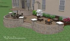 Patio Ideas: Custom Patio Design for Sloping Backyard in West ...