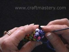 ▶ How To Crochet Bead Rope Necklace - YouTube