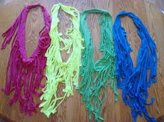 how to make scarves from t shirts - Buscar con Google