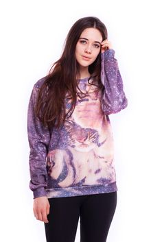 High quality printed sweatshirt!It can be the way to express Yourself or just shine among the crowd - or both !