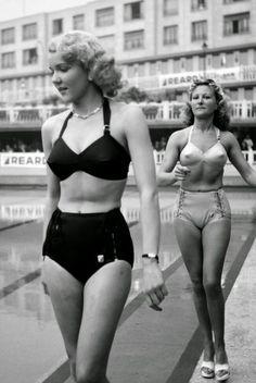 Reard Swimsuit Fashion History of the Swimsuit: Bullet Style: Vintage Swimwear Retro Mode, Mode Vintage, Vintage Ladies, Retro Vintage, Pin Up, 1940s Fashion, Vintage Fashion, Lingerie Vintage, Vintage Bikini