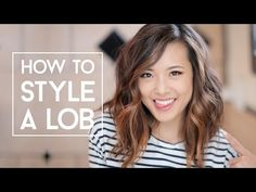 How To Style A Lob (No Heat & Curls) - YouTube She looks cute, but too much volume for me.