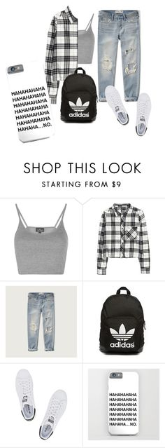 """5"" by irisjwang on Polyvore featuring Topshop, H&M, Abercrombie & Fitch and adidas Originals"