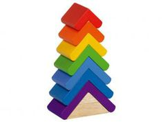 Primary Tree Tower - yay! I've been looking for an awesome rainbow stacker.