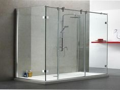 Frameless Sliding Shower Door Hardware Kit