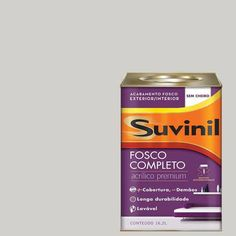 Foto 1 - Tinta Acrílica Fosca Suvinil Crômio 18Lts Terracota, Things To Buy, Cleaning Supplies, Personal Care, Beauty, Nova, Mary, Products, Pastel Pink