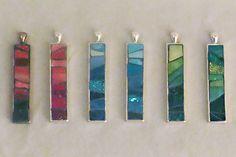 "color ""tower"" mosaic pendants by Mosaic Geek, via Flickr"