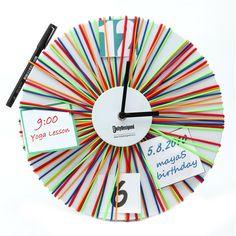 Elastic Clock Multi Colour