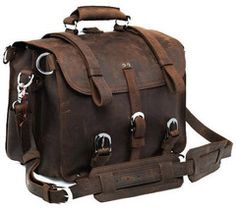 Product Description  This is SELVAGGIO Briefcase. Material: FullGrain Leather Hardware:Heavy Duty Metal Parts (Not breakable) Pockets:Twoexteriorand two b