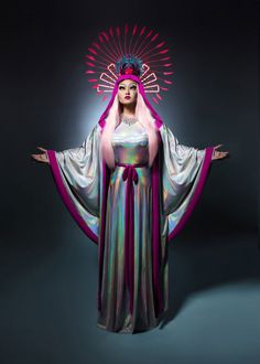 Our Lady of the Kimchi Violet Chachki, Drag Queens, Trajes Drag Queen, Kim Chi Drag, Illusion Photos, Rupaul Drag, Teen Mom, Club Kids, People Photography