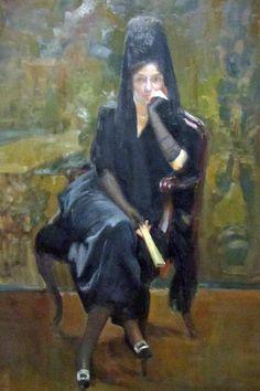 Joaquín Sorolla y Bastidas. Clotilde con mantilla. 1919