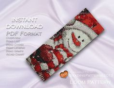 Building a wishlist. Loom Pattern Beading Pattern Christmas Happy Snowman Loom Pattern Beaded Delica Bracelet or Cuff