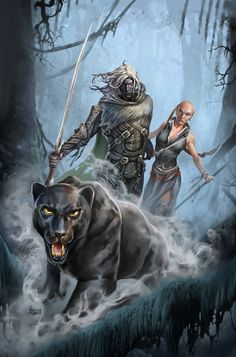 Dungeons and Dragons, The Legend of Drizzt cover art by Ganzalo Flores