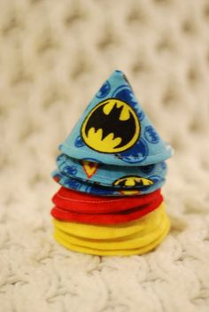 Batman Super Hero Pee Pee Teepees Set of 8 Caution by BresBoutique, $12.00