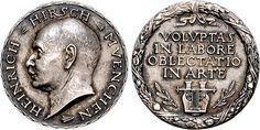 Hirsch, Heinrich (1868-1942), coin dealer; medal by Joseph Bernhart
