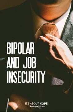 "For every working person with bipolar disorder, job insecurity is a constant concern. The question is, ""Will my bipolar symptoms cause me to lose my job. Bipolar Depression Disorder, Living With Bipolar Disorder, How To Cure Depression, Mental Health Disorders, Mental Health Issues, Mental Health Awareness, Bipolar Symptoms, Bipolar Awareness"
