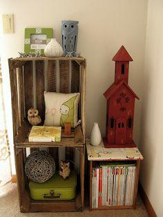 cajas de madera. decoración. organización. habitación infantil. niños. casa. wooden crates. kids room.  www.yourbox.bigcartel.com