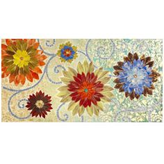 """floral damask mosaic panel... 30"""" by 58""""... sure would look good in my new bedroom!"""