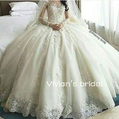 Sexy White Ivory Long Sleeve Wedding Dresses Lace Princess Bridal Gown Custom in Clothing, Shoes & Accessories, Wedding & Formal Occasion, Wedding Dresses | eBay
