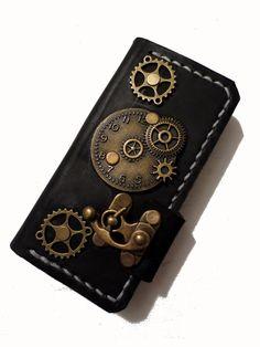 Handmade hand stitched victorian steampunk clock door PapyrusCrafts, $99.99