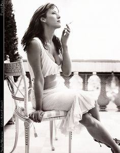 An afternoon spent smoking with Sophie Marceau