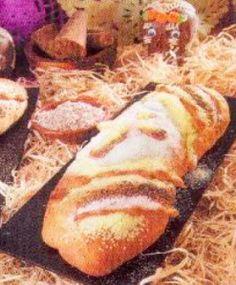Pan de muerto de pinole y piloncillo