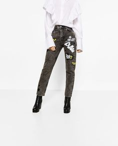 WONDER WOMAN JEANS-Relaxed Fit-JEANS-WOMAN | ZARA United States