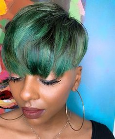 27 Piece Hairstyles, Short Relaxed Hairstyles, Black Women Short Hairstyles, Short Haircuts With Bangs, Dope Hairstyles, Pixie Haircuts, Hairstyle Ideas, Hair Ideas, Really Short Hair